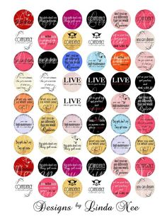 SASSY Quotes 1 Inch round Bottlecap Images by DesignsbyLindaNee, $3.95