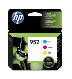 HP 952 Cyan, Magenta & Yellow Original Ink Cartridge, 3 pack (N9K27AN#140)