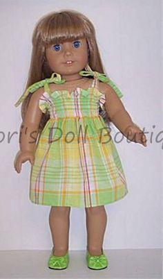 Scotty Dog 2pc Skirt Set Fits 18 inch American Girl Dolls