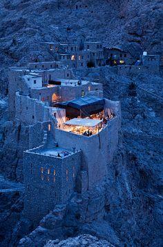 The Deir Mar Musa Christian Monastery in the hills near Nebek.