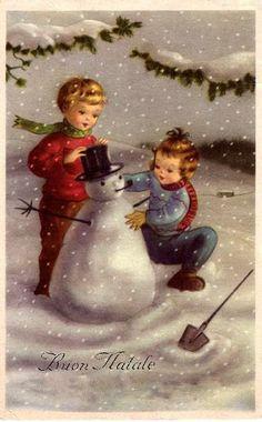 Italian Vintage Christmas Card