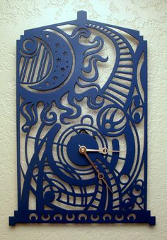 Oh my gosh! This is awesome!!!! Dr Who Tardis Clock. $85.00, via Etsy.