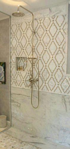 Simplified Bee - bathrooms - shower niche, moroccan tile, moroccan tile shower, moroccan tile shower surround by hilda Bath Design, Tile Design, Design Bathroom, Design Kitchen, Design Design, Modern Design, Ideas Baños, Tile Ideas, Decor Ideas