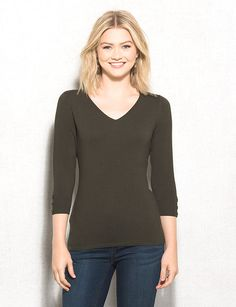 This is what i have in my closet, I would like to get something more interesting V-Neck Sweater