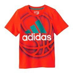 Christmas 2016 gift for our handsome grandson.  Boys Adidas Basketball Graphic Tee Size 5