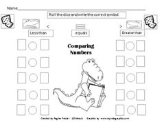 Mr. Alligator will assist your students as they compare numbers. This activity comes with seven worksheets. You can differentiate your instruction or give out the worksheets at different times of the year as you work with larger numbers. Students will get a chance to roll and compare as well as compare numbers up to 20 in one set of worksheets, up to 50 in the second set of worksheets and 100 in the last set of worksheets. This activity meets the Common Core for K and 1.