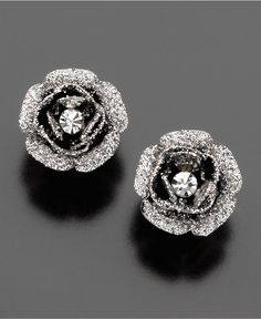 Betsey Johnson Earrings, Rose Bud Stud - Fashion Jewelry - Jewelry & Watches - Macy's