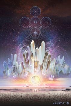 Quartz. Sacred Visionary art.