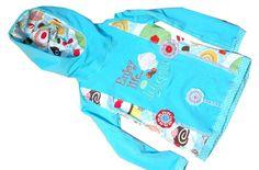 Langarmshirts - Mädchenshirt Gr.122/128 türkis Kapuze - ein Designerstück von C-Fashion-Design bei DaWanda