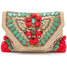 Antik Batik Cuzco Clutch - Cream (1.090 BRL) ❤ liked on Polyvore featuring bags, handbags, clutches, oversized purse, cream purse, woven purse, cream handbag and genuine leather purse