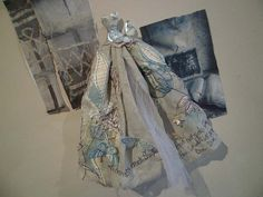 Art Dress Made From Paper and Fabric   A Stolen by MesssieJessie, £32.50