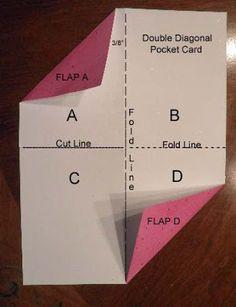 Black Hole Art Studio: Double Diagonal Pocket Card