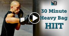 30 Minute Boxing Heavy Bag HIIT Workout – Exercises and Fitness Boxing Workout With Bag, Boxing Workout Routine, Boxing Training Workout, Punching Bag Workout, Heavy Bag Workout, Boxing Punching Bag, Mma Workout, Gym Workout Tips, Beginner Boxing Workout