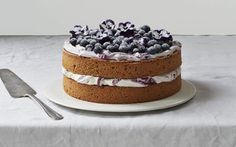A Naturally Sweetened Lemony Hazelnut & Blueberry Cake - Spelt Flour Sweet Recipes, Cake Recipes, Dessert Recipes, Desserts, Yummy Recipes, Bluberry Cake, Decadent Chocolate Cake, Light Cakes, Hazelnut Cake