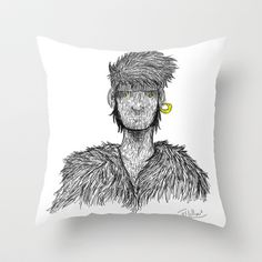 FOSTER Throw Pillow by Marco Lilliu - $20.00