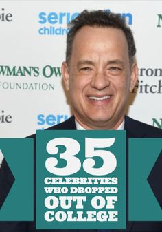 PrettyFamous compiled a list of 25 well-known stars who decided college didn't align with their future plans. Some of them make perfect sense, but we were surprised Brad Pitt, Tom Hanks and a few others dropped out.