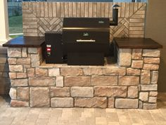 Outdoor Kitchen Pellet Grill In 2020 Backyard Bbq Pit, Backyard Smokers, Porch Grill, Outdoor Grill Station, Outdoor Kitchen Grill, Outdoor Kitchen Patio, Outdoor Kitchen Design, Bbq Grill, Backyard Ideas