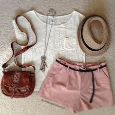 #ootd #outfit #summer #summerootd #summeroutfit #accessories #hairaccessories #hat #purse #shoulderbag #bav #leather #leatherbag #shorts #highwaist #highwaisted #highwaistedshorts #highwaistshorts #shorts #pocket #tee #tshirt #necklace #jewellery #fashion #style #love - @ootd_l0ve- #webstagram