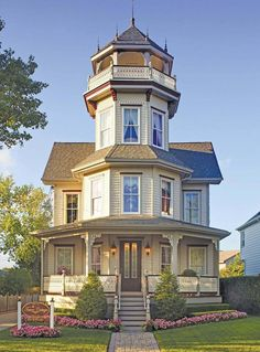 The Tower Cottage Inn, a bed and breakfast, located in Point Pleasant Beach, New Jersey. Originally built in this charming Queen Anne Victorian House is now a beautifully restored B&B. Victorian Architecture, Beautiful Architecture, Beautiful Buildings, Beautiful Homes, Classical Architecture, Victorian Style Homes, Victorian Cottage, Victorian Interiors, Victorian Decor