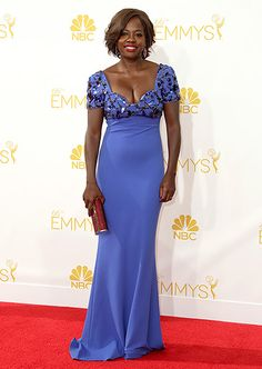 Viola Davis in Escada @ the 2014 Emmys