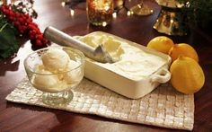 Rosemary Shrager's Lemon Curd Ice Cream Recipe by Rosemary Shrager