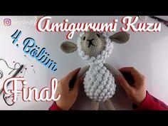 Amigurumi Kuzu Nasıl Yapılır 2.Bölüm - Pıtırcıklı Kuzucuk Kol, Bacak, Kulak Yapımı - YouTube