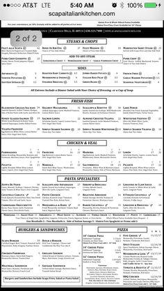 Scapa menu(page 2)