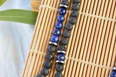 Mala 108 perles Lazuli, Artisanal, Creations, Beaded Bracelets, Jewelry, Handcrafted Jewelry, Natural Stone Jewelry, Natural Stones, Beads