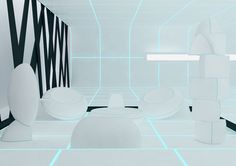 """""""Tron Designs Corian"""", exhibition by DuPont Corian based on Tron Legacy, which has inspired designers accross design, fashion and technology _"""