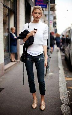 GET INSPIRED: Μαύρο Skinny Παντελόνι! 10 Τρόποι να το Φορέσετε   Τα 111 Καλύτερα Street Style
