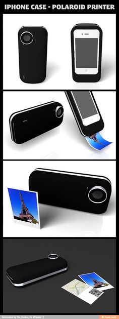 The iPhone just keeps getting better and better and better. THIS IS PURRDY AWESOM. i don't have an iPhone ho =( iPhone case - polaroid printer. Gadgets And Gizmos, Tech Gadgets, Cool Gadgets, Iphone Gadgets, Camping Gadgets, Electronics Gadgets, Technology Gadgets, Ipod Cases, Cute Phone Cases