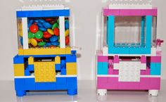 """Christmas LEGO idea for Grandchildren. The children will get these """"unassembled"""". The package will include all the LEGO pieces, candy and instructions to build their own candy dispenser. Link to pin that inspired me. http://frugalfun4boys.com/2014/10/20/build-lego-candy-dispenser/"""