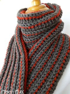The Every Man Scarf, free crochet pattern from Fiber Flux with video tutorial