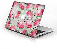 Rubberized Hard Case for Macbook Air 13 Inch model number and Watermelon design with clear bottom case, Come with Keyboard Cover Watermelon Birthday, Watermelon Outfit, National Watermelon Day, Watermelon Designs, Macbook Pro 13 Case, Diy Back To School, One In A Melon, Keyboard Cover, 9th Birthday