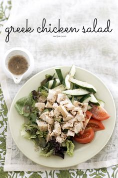 Bring a little Mediterranean to the table with this classic Greek salad recipe. It's quick and easy using deli chicken and mixed salad greens, ready in under 30 minutes.