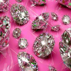 Pink Diamond Wallpaper, Bling Wallpaper, Stone Wallpaper, Cool Wallpaper, Mobile Wallpaper, Mermaid Wallpaper Backgrounds, Diamond Background, Minerals And Gemstones, Everything Pink
