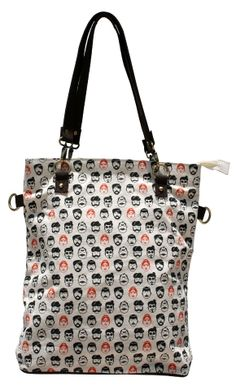 Quirky printed Tote Bag for the ladies, coverts to a sling bag too... #totebag #slingbag #womensbags #quirkyprints #printedbag