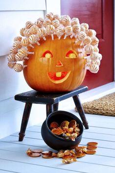 Cocktails Halloween, Menu Halloween, Bonbon Halloween, Scary Halloween Pumpkins, Funny Pumpkins, Spooky Pumpkin, Diy Halloween Decorations, Happy Halloween, Cheap Halloween