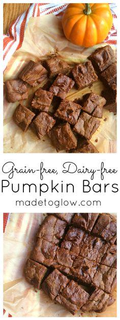 Pumpkin Bars (Grain-free, Dairy-free) - Made To Glow