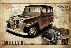 1953 Willys Wagon rendering