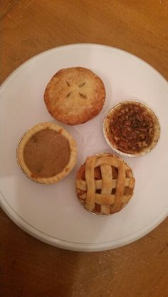 Assorted Pies: (clockwise) Apple, Pecan, Peach, Sweet Potato