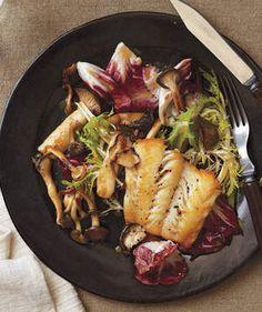 Haddock With Warm Frisée and Mushroom Salad | Get the recipe for Haddock With Warm Frisée and Mushroom Salad.
