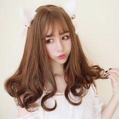 Harajuku Curly End Light Brown Wig Sd