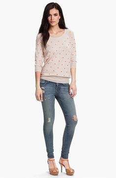 Pleione Dot Pullover available at Nordstrom