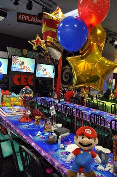 Super Mario Bros birthday party at Chuck E. Cheese's!