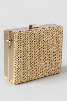 Abigale Straw Clutch at Francesca's $44, with thanks to Katlyn on the WKW Facebook page for the tip. :)