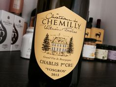 """Chablis Premier Cru (sometimes seen as """"Chablis Cru"""") is an official classification of the Chablis region in northern France that refers to wines of higher quality than ordinary Chablis. Wines, France, Bottle, Food, Flask, Essen, Meals, Yemek, Jars"""