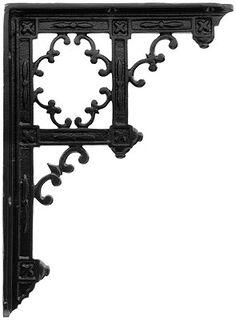 "Victorian Gothic Cast Iron Shelf Bracket - 9 1/4 x 6 3/4"" | House of Antique Hardware"