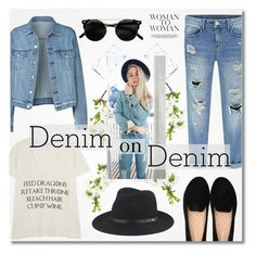 """""""Double Down on Denim"""" by dora04 ❤ liked on Polyvore featuring Wildfox, rag & bone and Denimondenim"""