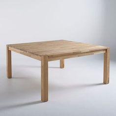 Table carrée Pays Bois 160 cm. | Tables en ancien bois d\'échafaudage ...